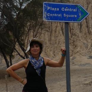 Elise Dufour at Sipán, northen coast of Peru