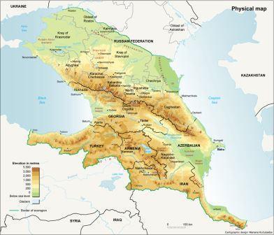 Carte Caucase